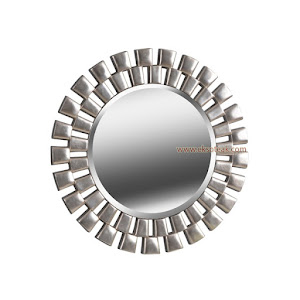 Cermin Hias Jati Modern Seri Bundar