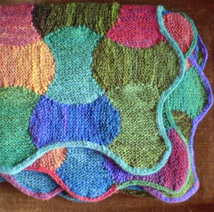 We Like Knitting: Apple Core Blanket - Free Pattern