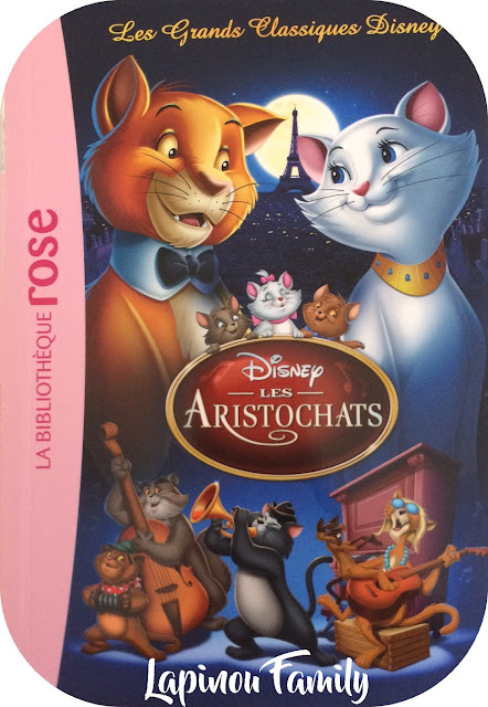 disney bibliotheque rose aristochats