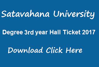 su ug 3rd year hall tickets 2017 download