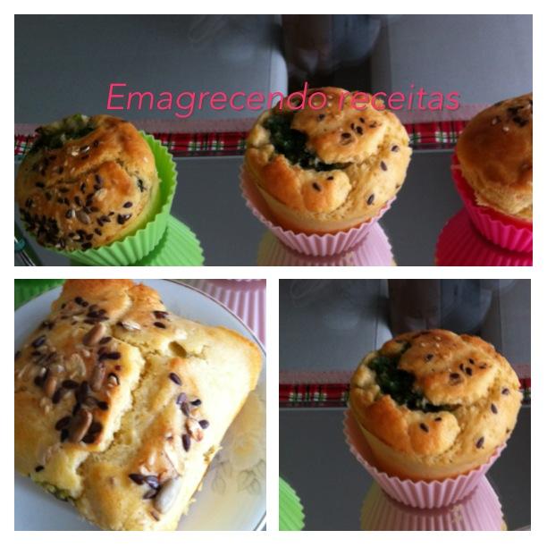 Emagrecendo Receitas: Muffins de Escarola