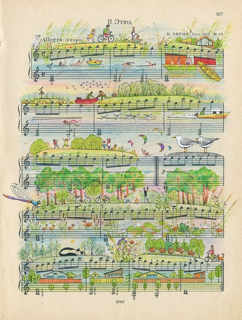01-My-Village-Lyapunov-and-Erlich-Music-Sheets-Colored-Illustrations-www-designstack-co