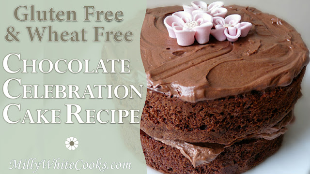 Gluten Free Whipped Chocolate Ganache Celebration Cake Recipe