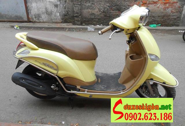 Sơn xe Yamaha Nozza màu vàng zin cực đẹp