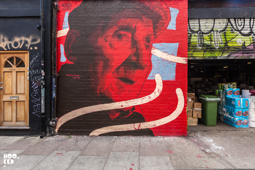 Shoreditch Mural by Canadian street artist Kevin Ledo on Bacon Street