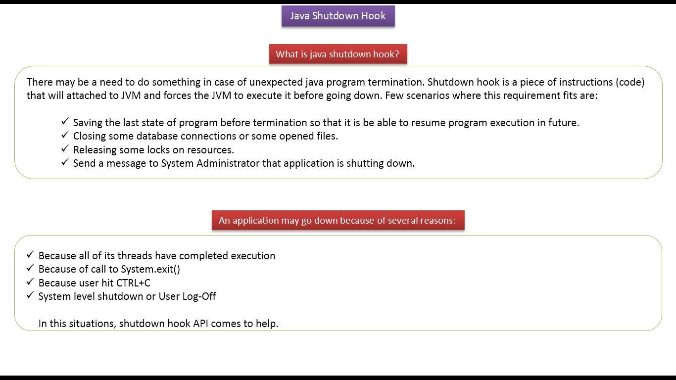 JAVA EE: Java Tutorial: Java Runtime class (shutdown hook_V2)