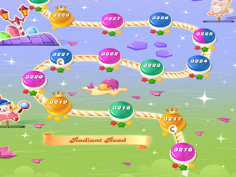 Candy Crush Saga level 3216-3230