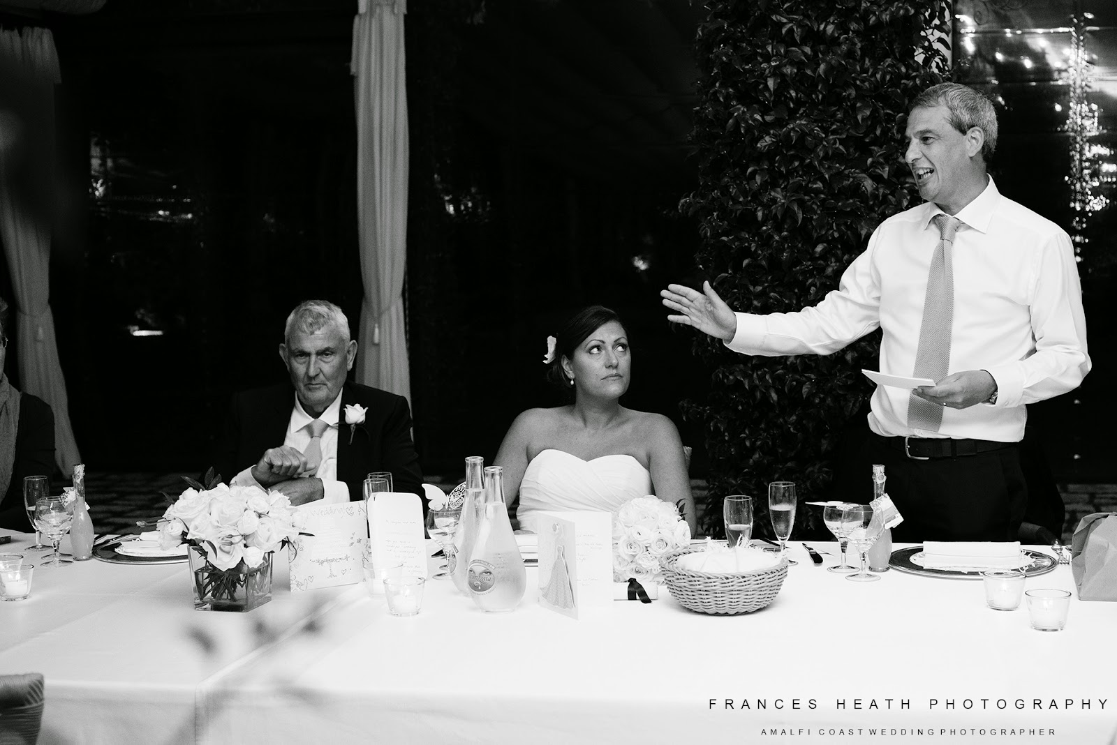 Groom's speech at Villa Eva in Ravello