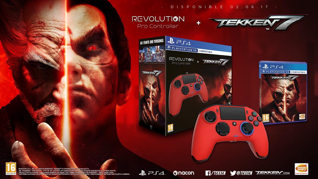 Se anuncia pack de Tekken 7 con mando especial Revolution Pro Controller