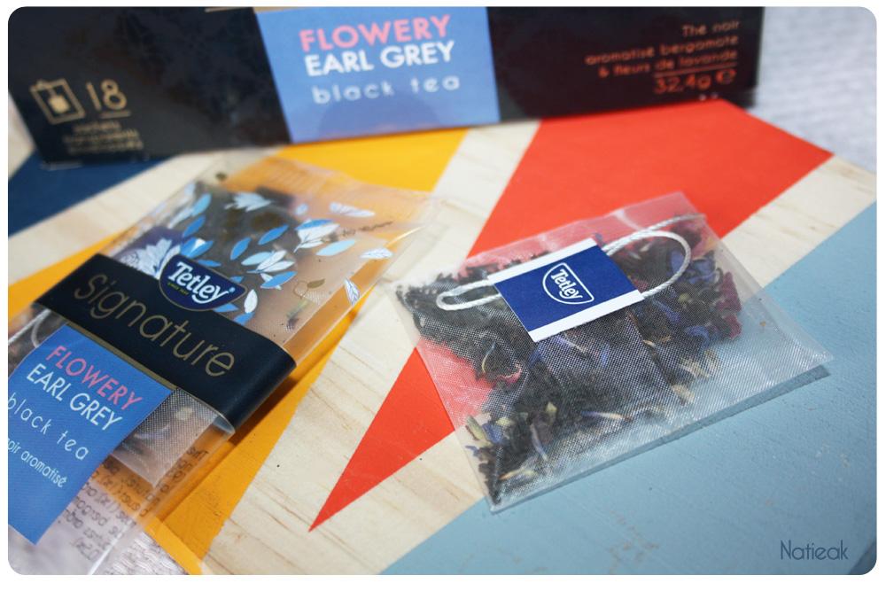 Sachet de thé noir Flowery Earl Grey de Tetley