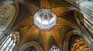 Interior Photo of the Octagon Lantern Tower of Ely Cathedral