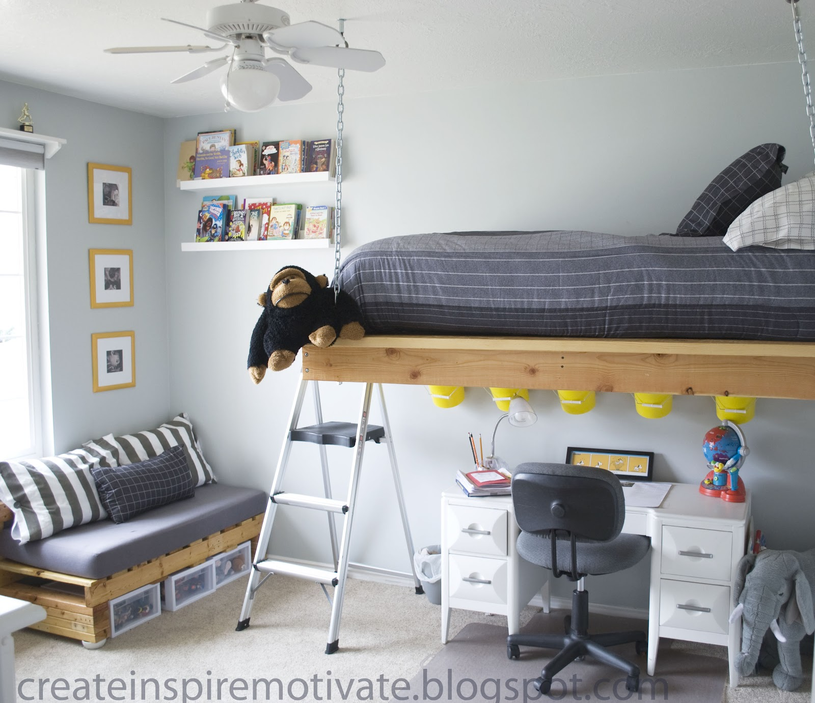 Bed Suspended From Ceiling Createinspiremotivate C 39s Room Part 1 Hanging Bed