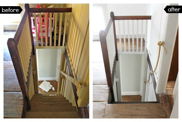 farmhouse stairs makeover