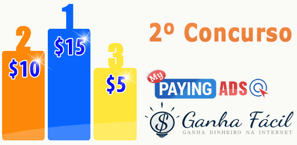 concurso contest mypayingads dinheiro ganha ganhar passatempo money prémios