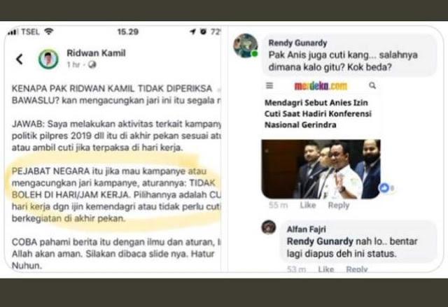 Telak! Ngeles Ridwan Kamil Tidak Diperiksa Salam 1 Jari Beda dengan Anies, Dibungkam Warganet