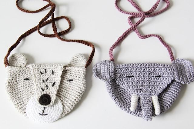 Studio Mojo, haken, olifantentasje, tasje, kindertasje, Gehaakt/ crochet, gratis patroon