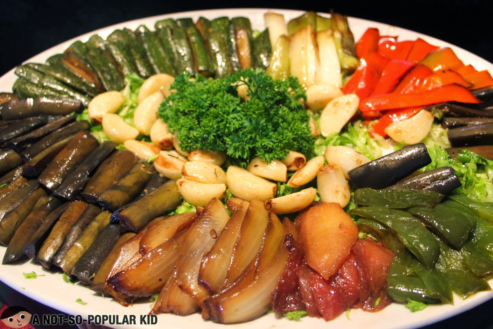 Escalivada - roasted vegetables with anchovies