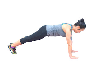 Plank-Up with Diagonal Hops