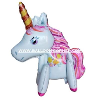 Balon Foil Unicorn 3D (Assembled Foil Balloons)