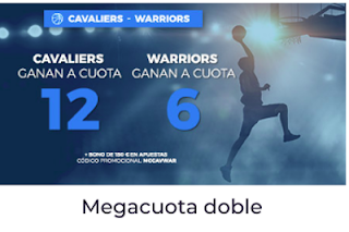 Paston Megacuota para la NBA: Cavaliers vs Warriors 1 junio