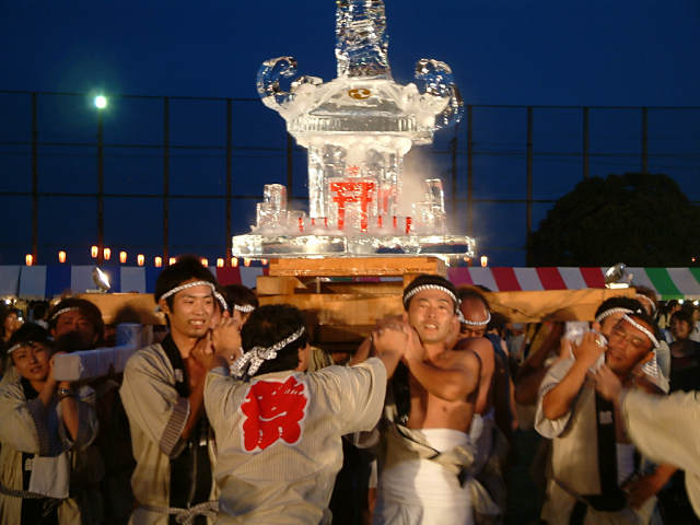Kasagake Matsuri (ice float parade), Midori City, Gunma Pref.