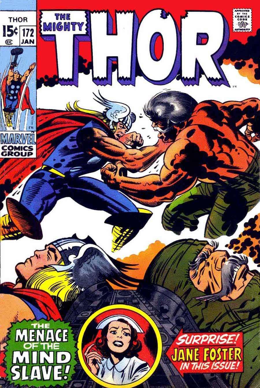 Thor v1 #172 marvel comic book cover art by Jack Kirby