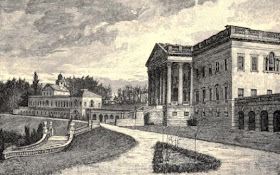 The mansion, Prior Park, Bath  from The life and times of Ralph Allen of Prior Park, Bath by REM Peach (1895)
