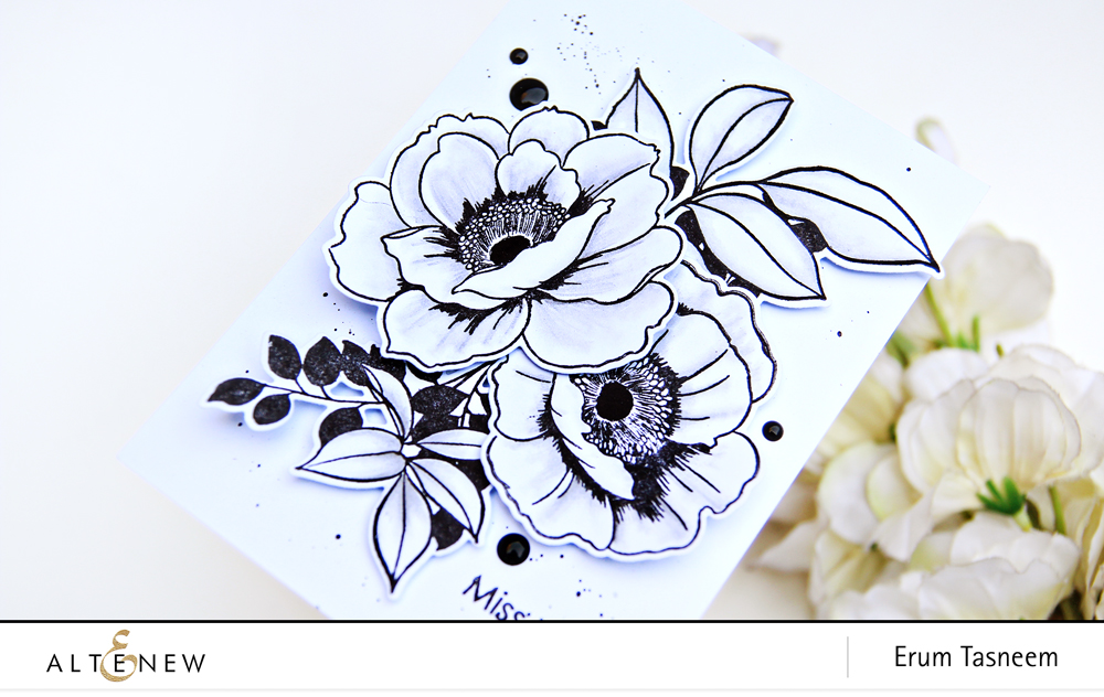 Altenew Wall Paper Art Stamp Set | Erum Tasneem | @pr0digy0