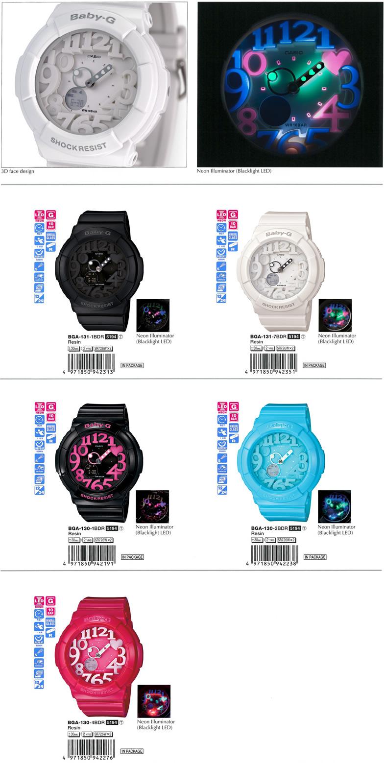 7a46abe103b3 Dinamika Watches Shop: Casio Baby-G Black Neon Illuminator Alarm ...