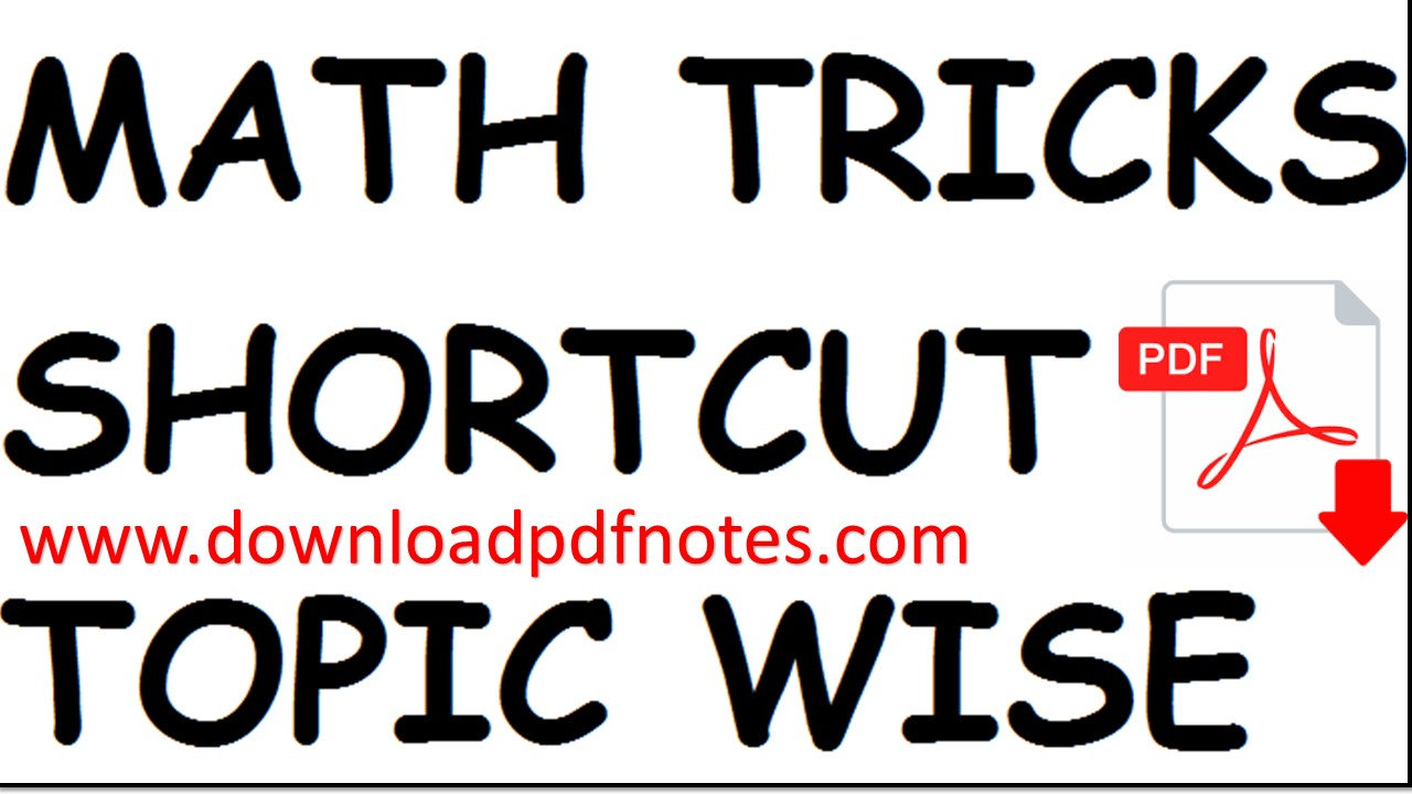 Maths Shortcut Pdf