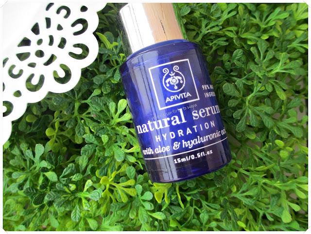Apivita Natural Serum Hidratación, aloe y ácido hialurónico para tu rostro