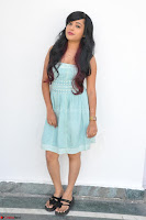 Sahana New cute Telugu Actress in Sky Blue Small Sleeveless Dress ~  Exclusive Galleries 004.jpg