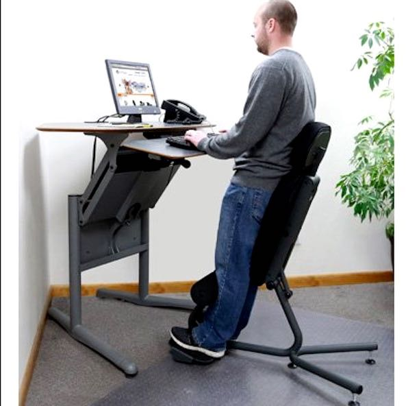 transition from sitting to standing desk
