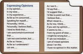 Giving Opinion (Memberikan Pendapat)