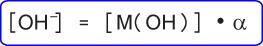 Konsentrasi ion OH– basa lemah jika derajat ionisasinya diketahui