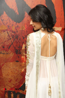 Telugu Actress Mahima Makwana Stills in White Desginer Dress at Venkatapuram Movie Logo Launch  0061.JPG