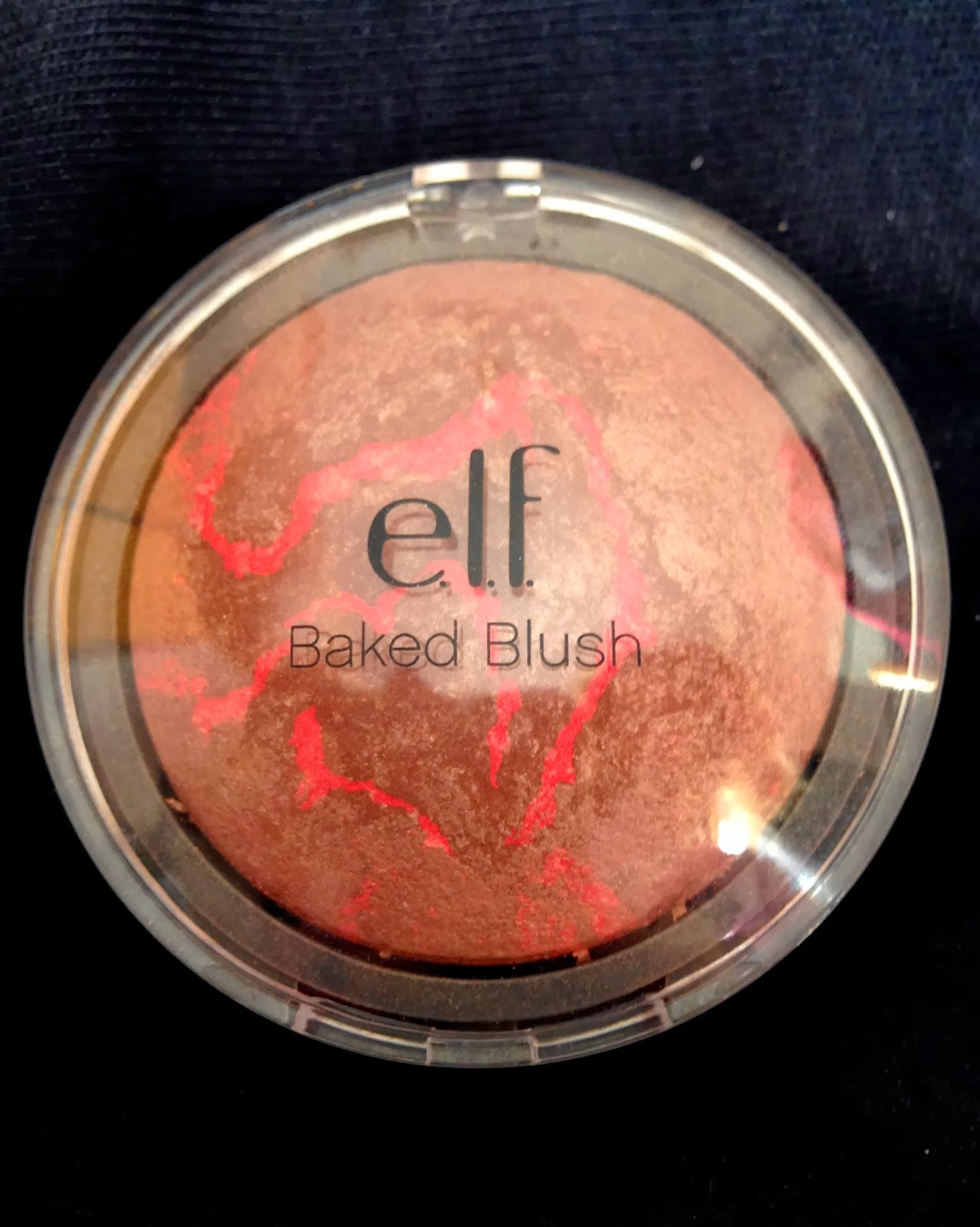 E.L.F. COSMETICS BAKED BLUSH IN 'RICH ROSE'