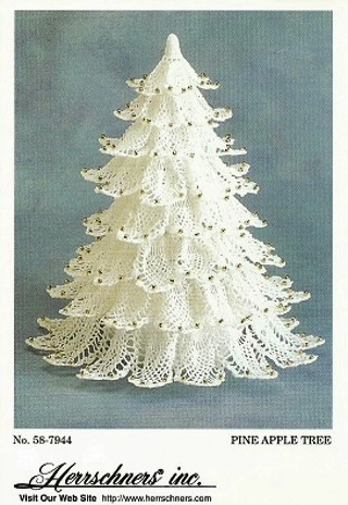 lace christmas tree crochet