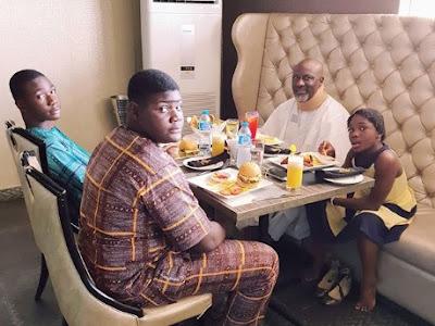 #TheDinos! Senator Dino Melaye shares photo of His Sons And Daughter