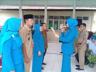 Ketua Tim PKK Desa Tanjung Sari dan Suka Maju di Lantik