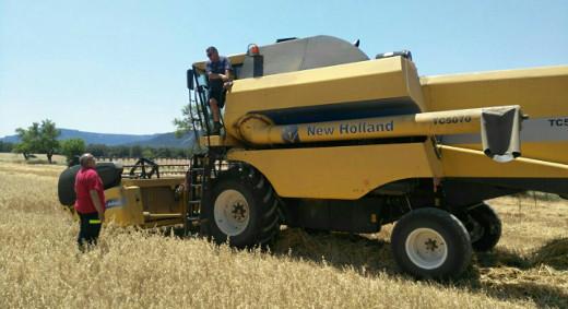 Medio Ambiente recomienda prudencia durante la cosecha de cereales por riesgo de incendio forestal