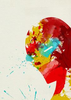 arte+salpicadura+iron+man