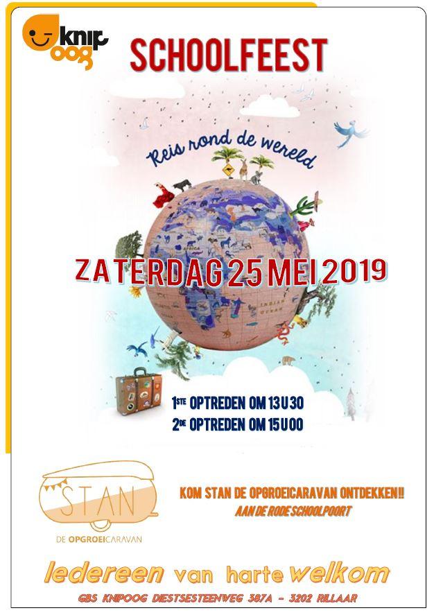 Schoolfeest zaterdag 25 mei 2019