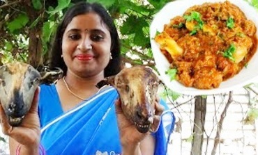 Village Foods – South Indian Cooking King Of Goat Heads Recipe- Village Style Spicy Lamb Heads Curry