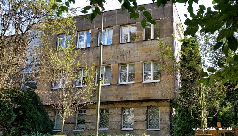 Warszawa Warsaw Saska Kępa Stanisław Barylski funkcjonalizm architektura willa 1934 ciosany piaskowiec ślady po kulach