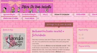 Blog Diário de uma inclusão