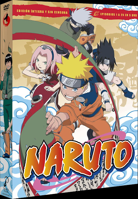 NARUTO BOX 1 Episodes 1 to 25.