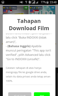 Popup izin redirect page indoxxi