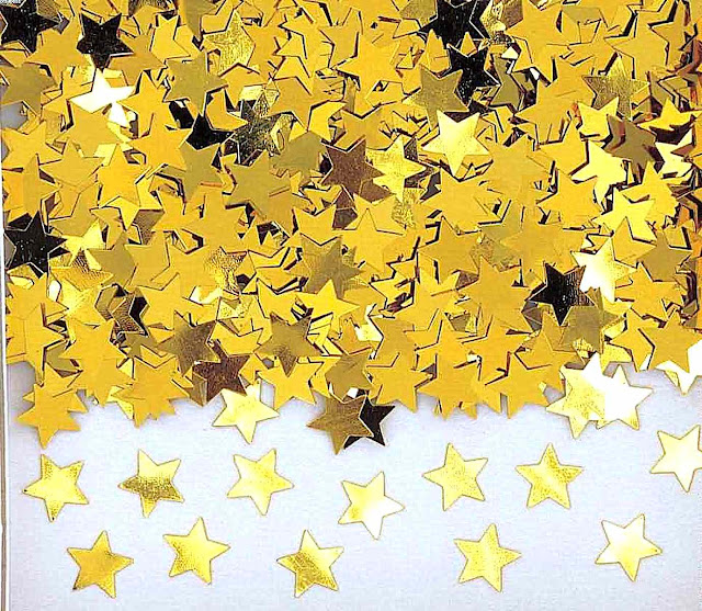 photo of paper gold stars