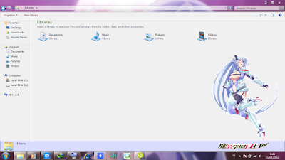 Theme Anime Windows 7 Chidorigafuchi Aine from Masou Gakuen 4